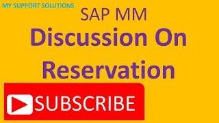 SAP MM rezervasyonu - İş Örneği