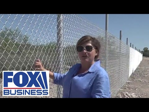 Bartiromo tours Texas border fence built to prevent migrants from crossing on residents' property