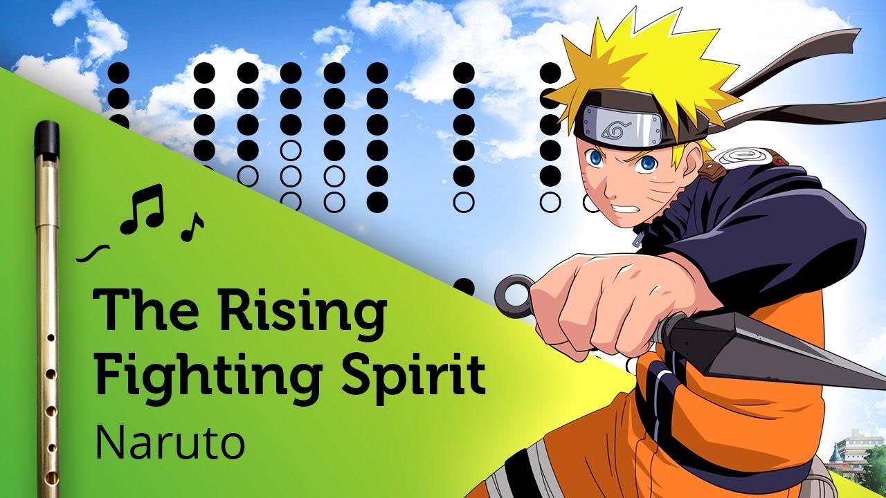 The Raising Fighting Spirit (Naruto) on Tin Whistle D + tabs tutorial