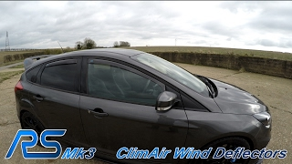 Ford Focus RS Mk3 - ClimAir Wind Deflectors Install