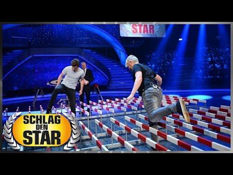 Spiel 1: Hürdenlauf - Schlag den Star