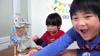 映画ドラえもん のび太の宝島「かんらんしゃシューター」で アンパンマンのお菓子をゲットしよう! 泣き虫きいちゃんもがんばるよ! ドラえもん 映画 おもちゃ Doraemon