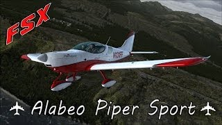 FSX ᴴᴰ | Alabeo Piper Sport Review