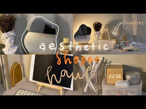 Aesthetic shopee haul