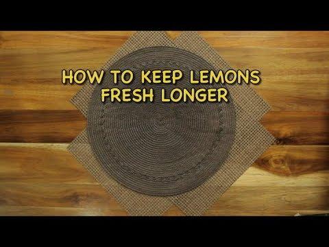 How to keep lemons fresh longer | Kitchen Hacks
