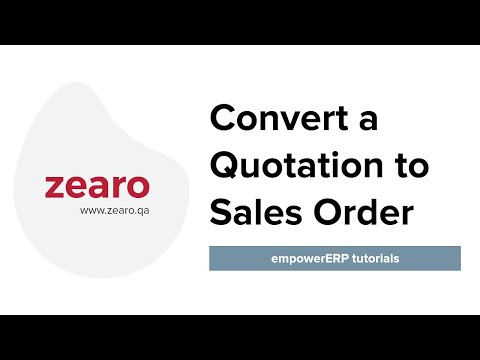 How to convert a Quotation to Sales Order