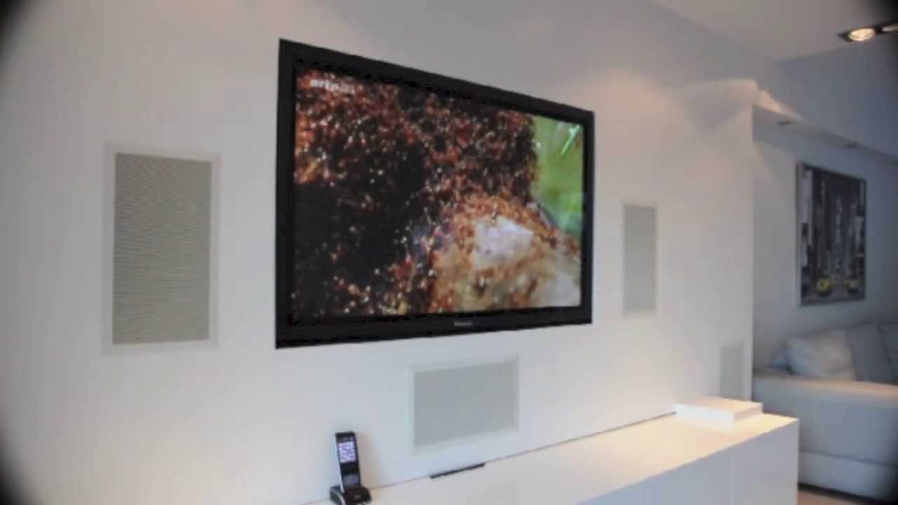 Mur audio vid o int gr par 1 telect youtube - Meuble pour encastrer un four ...