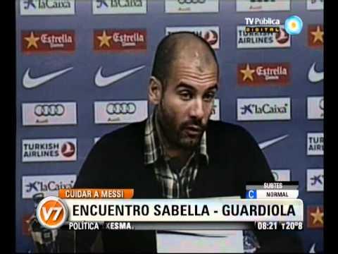 Visión Siete: Cuidar a Messi: Encuentro Sabella-Guardiola