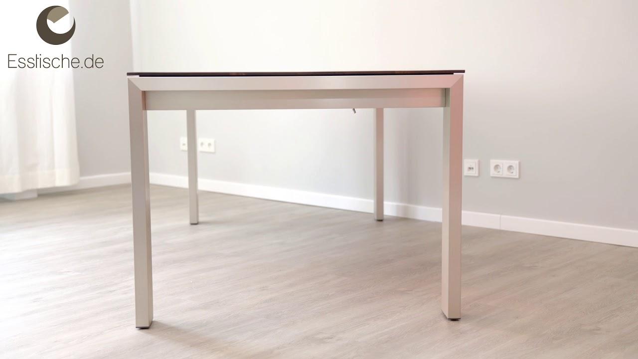 esstisch metall holz ausziehbar amalfi youtube. Black Bedroom Furniture Sets. Home Design Ideas