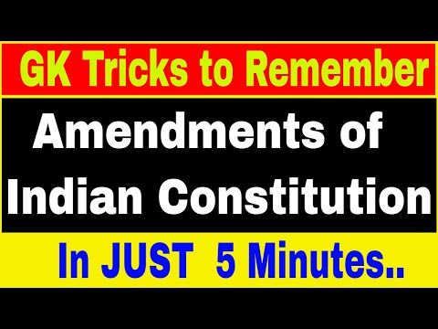 Tricks to Remember amendments of Indian Constitution | Indian Polity Tricks