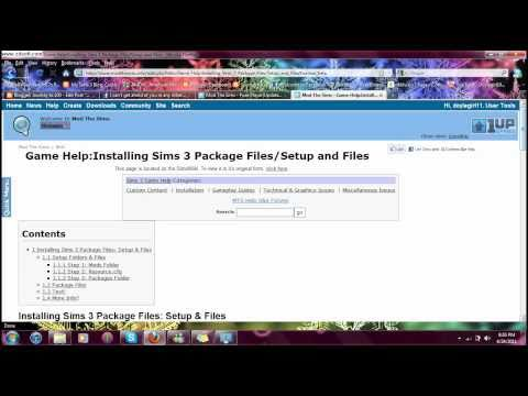 How To: Install Package files for sims 3 - YouTube