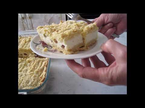 Насыпной пирог с творогом или Королевская ватрушка.