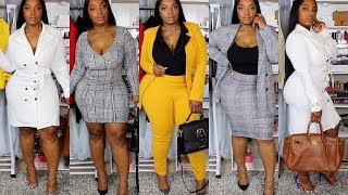 They Ask To See The Boss | Work Force Try On Haul Fashion Nova Curve