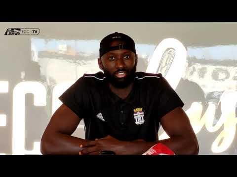 Presentación Mansour Kasse con FC Cartagena CB