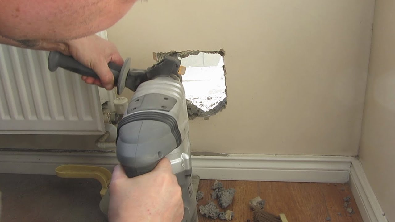 Hole In The Wall For Cat Flap Youtube
