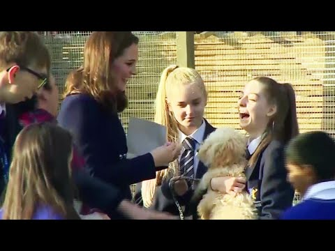 Pregnant Duchess Kate Middleton Honors Excited Therapy Puppy