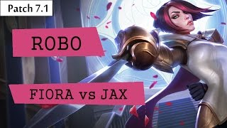 red robo fiora vs jax top   lol br pro replays
