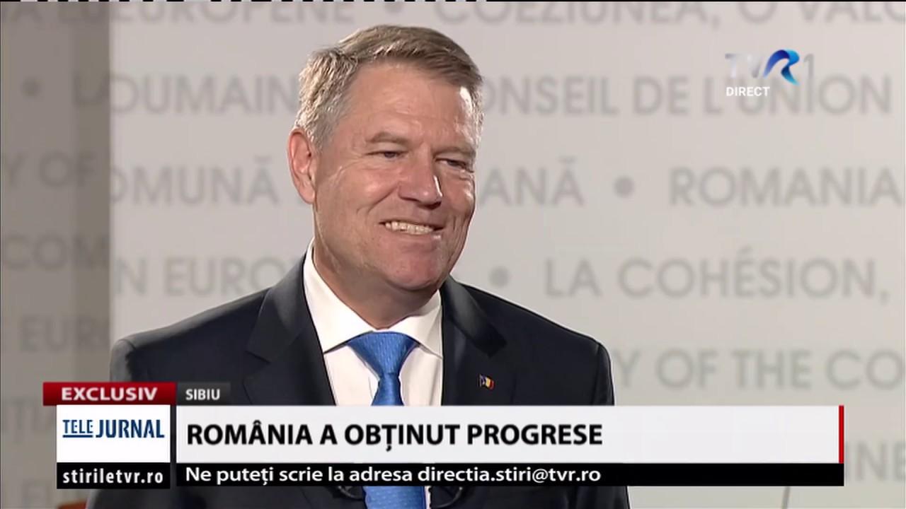 #TemaZilei: Interviu cu preşedintele Klaus Iohannis, despre summit-ul UE de la Sibiu (@TVR1)