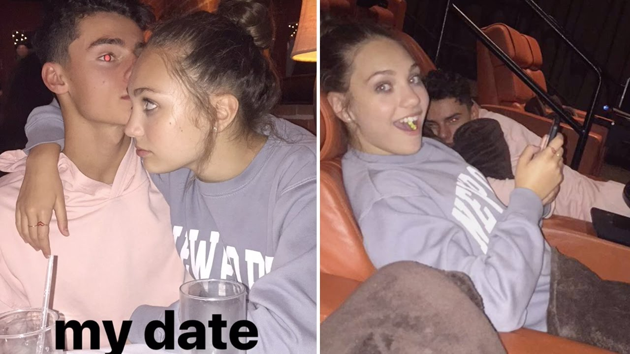Maddie Ziegler Cuddling At The Movie Theatre With Her ...