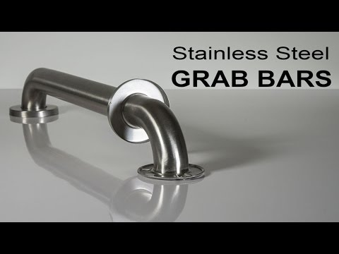 Strong Support for the Disabled | Stainless Steel Grab Bars - YouTube