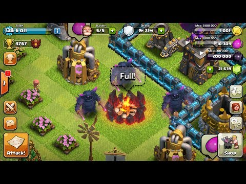 Clash Of Clans - ALL MAX LEVEL 5 PEKKA Raid! Maxed Out - live Gameplay