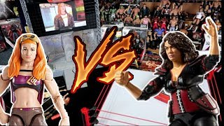 Becky Lynch vs Nia Jax | WWE Action Figure Fun - WDW