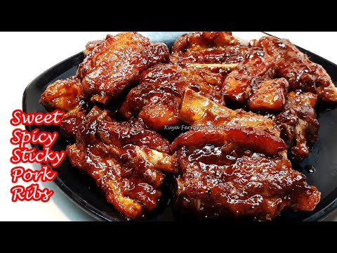 HOW TO COOK YUMMY SWEET SPICY STICKY PORK RIBS RECIPE | SO GOOD YOU'LL HAVE TO LICK YOUR FINGERS!!!