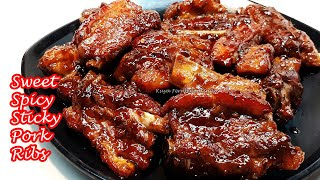 HOW TO COOK YUMMY SWEET SPICY STICKY PORK RIBS RECIPE  SO GOOD YOU&#39LL HAVE TO LICK YOUR FINGERS!!!