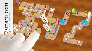 Building Letters with Marble Machine Game (part 2 - letters S to Z) - simple tutorial for kids