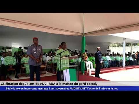 Célébration des 73 ans du PDCI-RDA : Bédié lance un important message à ses adversaires