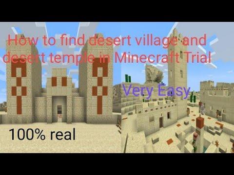 Download How to find desert village and desert temple in Minecraft Trial|Minecraft Trial