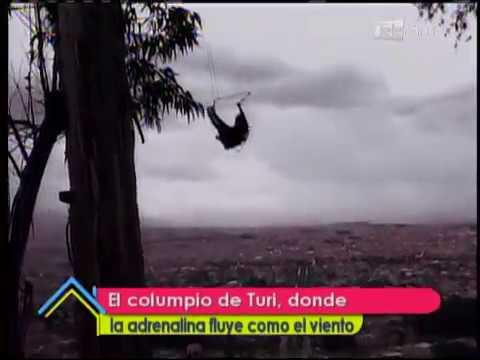 El columpio de Turi, donde la adrenalina fluye como el viento