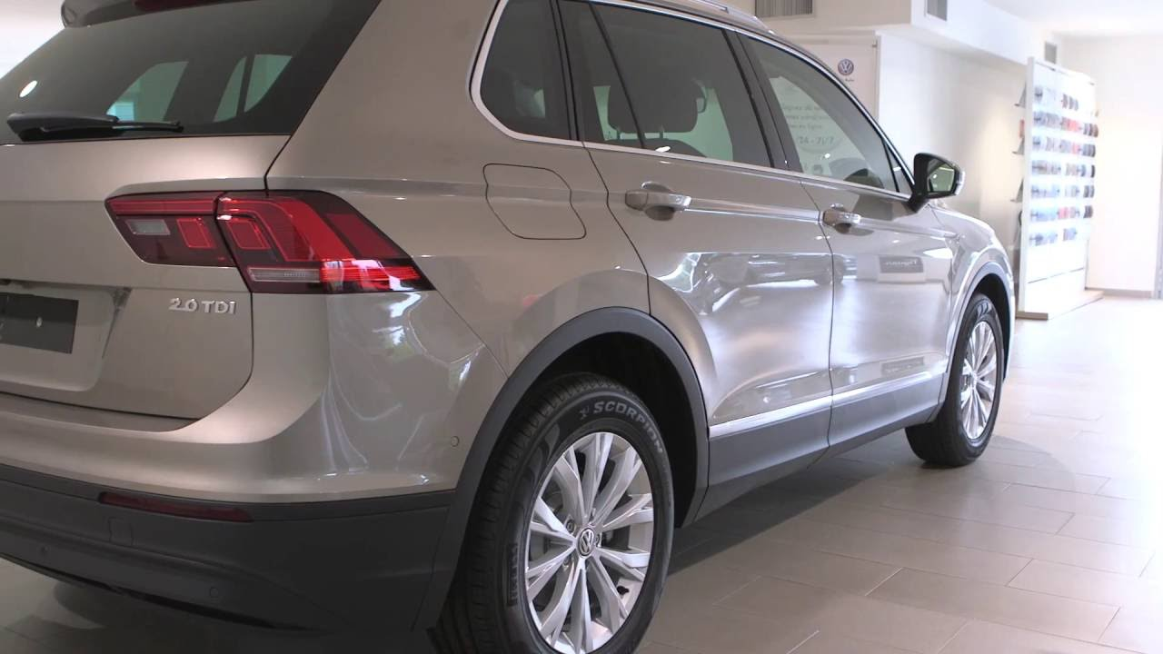 Volkswagen Tiguan Neuf 2.0 TDI 115 Bluemotion Technology Confortline Beige Titane - YouTube