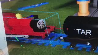 Roblox James em um acidente de bagunça