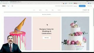 Celebration Cake Template from Wix - Web Design - Tutorial