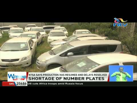 NTSA says production of number plates has resumed and delays resolved