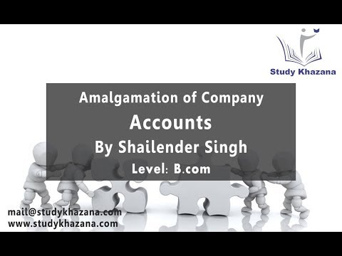 Amalgamation of Company - B.com | Shailender Singh | Accounts | Free video Lecture