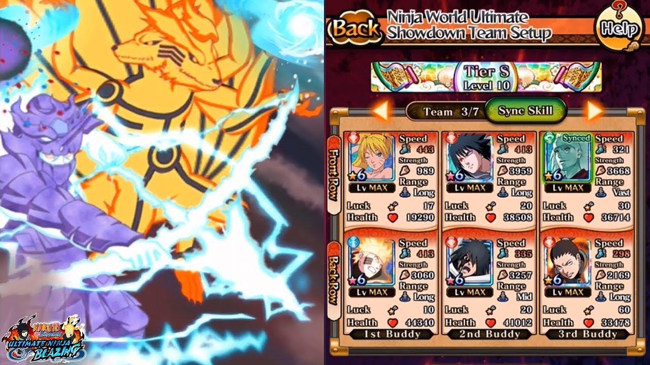 MEIN BLAZING PVP TEAM - BB Naruto & Sasuke Kage League Showcase! Naruto  Ultimate Ninja Blazing