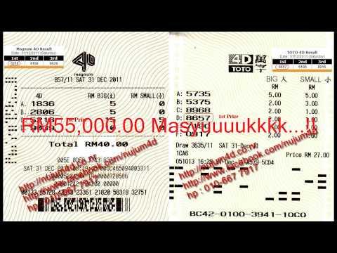 Nujum 4D. Kemenangan RM80,000.00 Dalam Tempuh 10 Hari Sahaja!