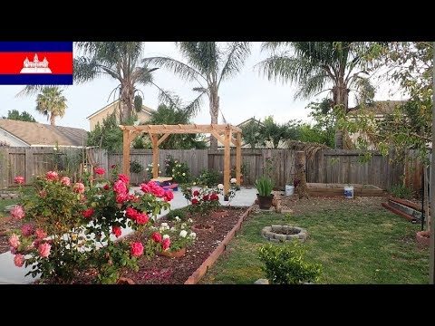 Cambodian in America (4.27.19 Soriya's backyard - fence work)