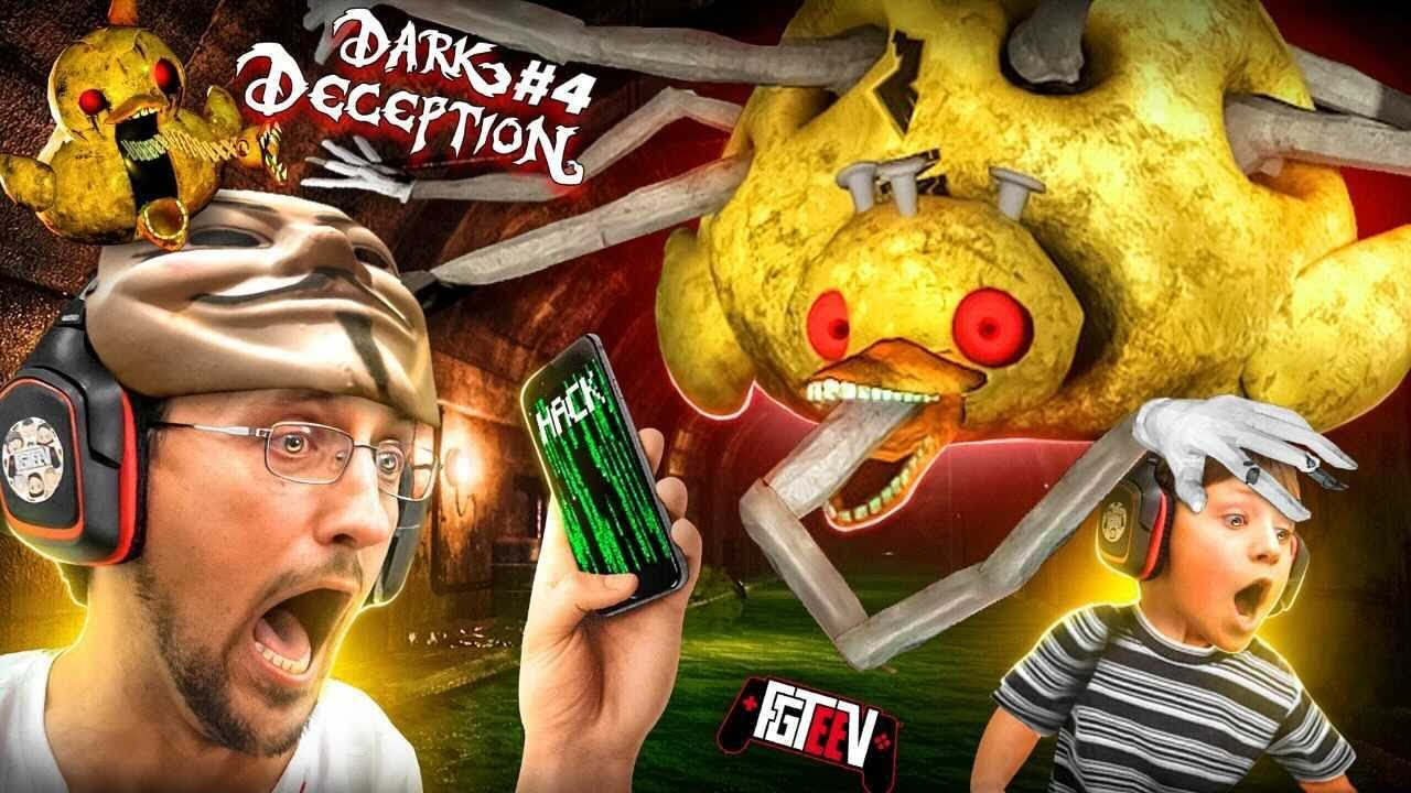 BAD DUCKIE!! Escape the 🐤 Boss & Get OUT the STRANGER SEWERS! (FGTEEV plays Dark Deception #4)