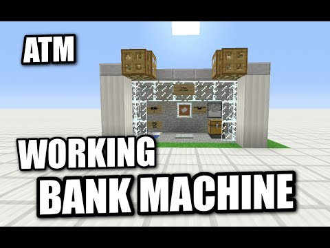 Minecraft - WORKING ATM - BANK MACHINE - Tutorial ( PE / XBOX / PS3 / WII U )