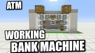 Minecraft - WORKING ATM - BANK MACHINE - Tutorial ( PE XBOX PS3 WII U )