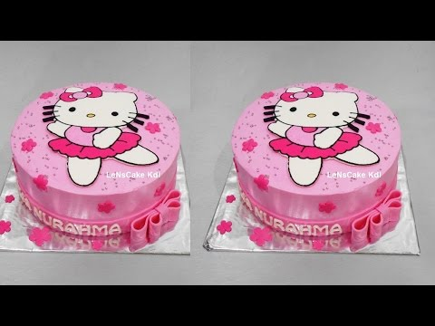 Hello Kitty Cake Tutorial Birthday Cake by LeNsCake Kdi