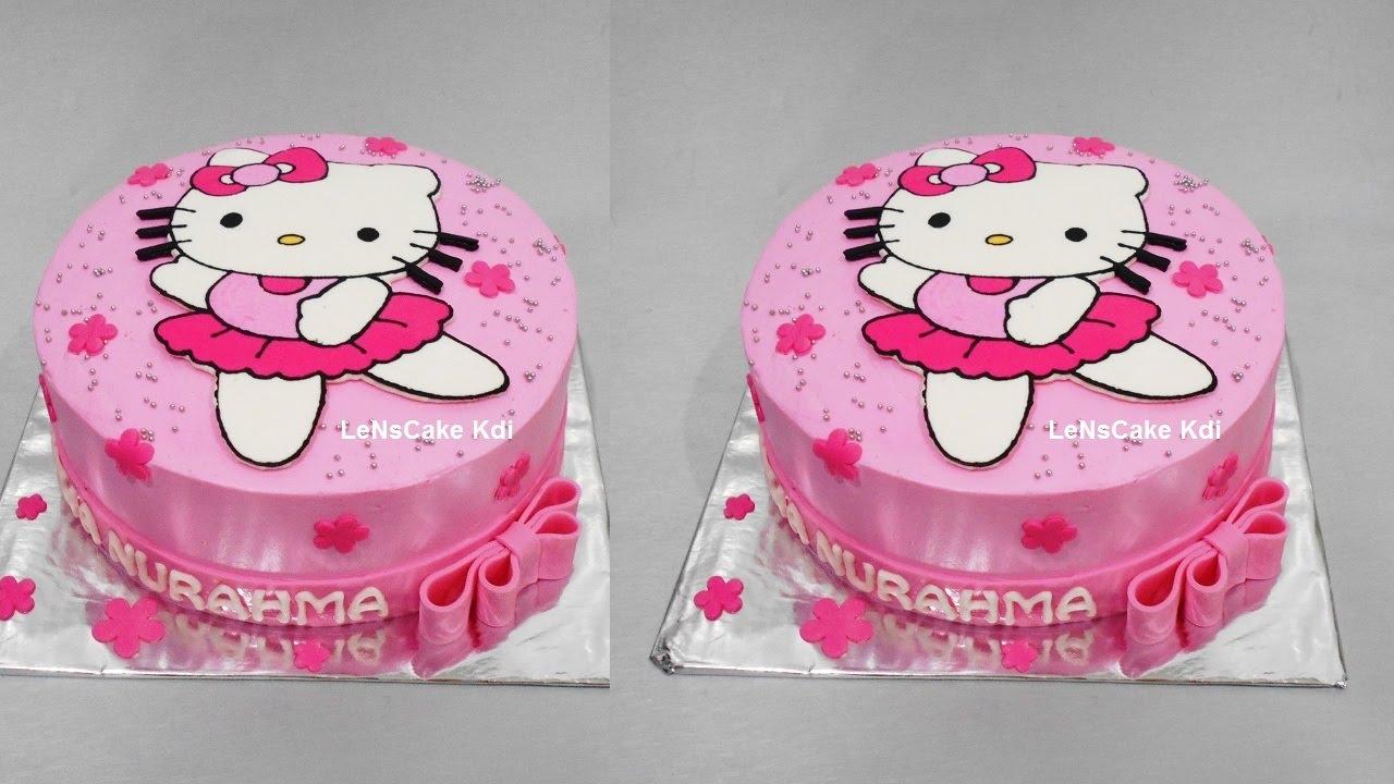 Hello Kitty Cake Tutorial Birthday Cake By Lenscake Kdi Youtube