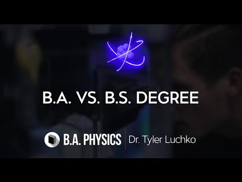 PATHWAYS   Department of Physics & Astronomy   B.A. VS. B.S. Degree   V3