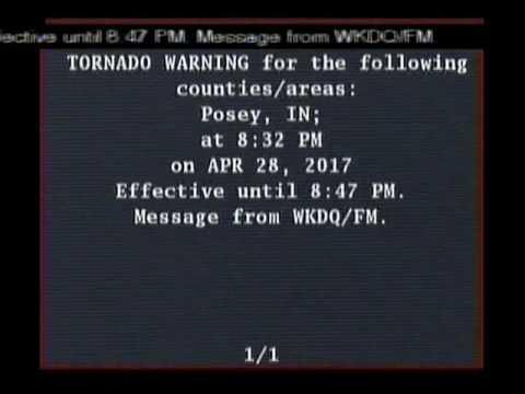 Emergency Alert System Test Tornado Warning April 28