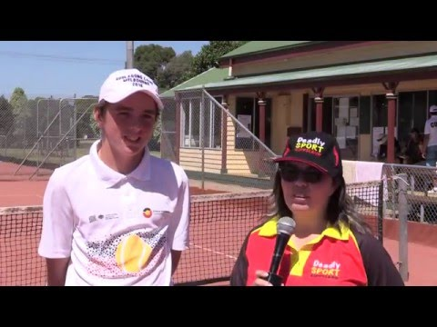 Toby Radford at the Evonne Goolagong Foundation Tennis Day