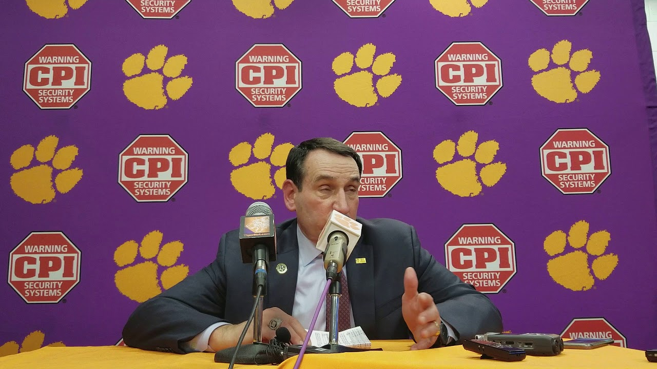 Duke head coach Mike Krzyzewski - YouTube