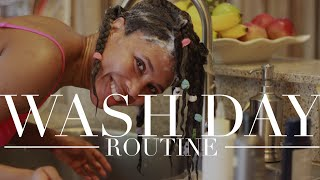Relaxed Hair Wash Day Routine